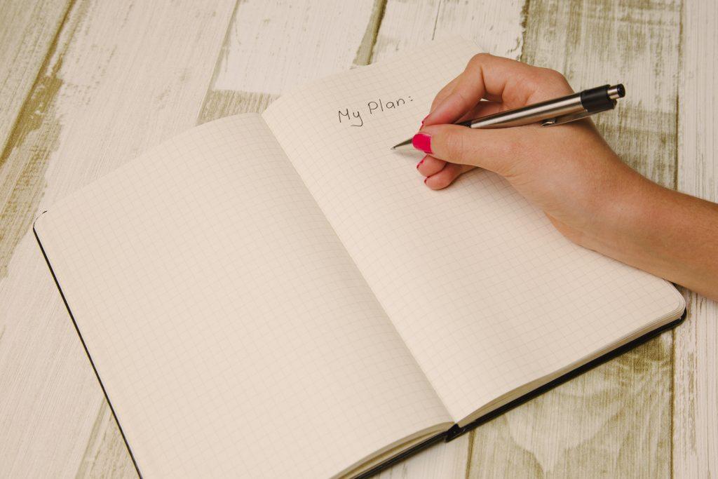 Notiere deine Ziele und dann setzte sie um